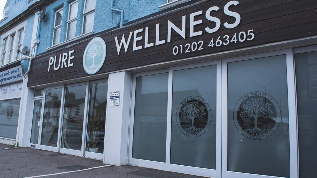 Pure Wellness Shop Sign